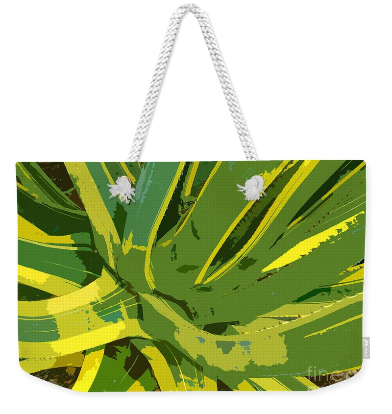 Cactus Weekender Tote Bag featuring the photograph Cactus Work Number 2 by David Lee Thompson