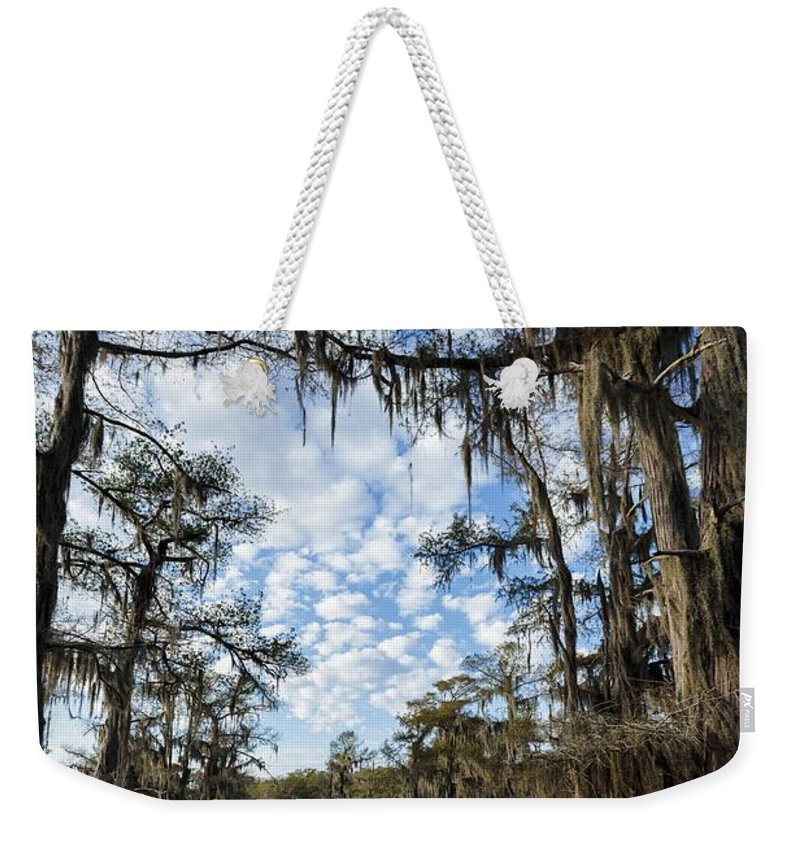 Caddo Lake Weekender Tote Bag featuring the photograph Caddo Trail by Michael Hampton