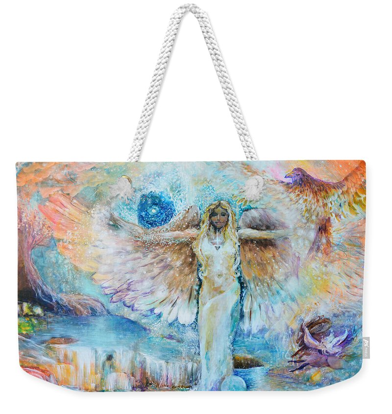 Cadecus Weekender Tote Bag featuring the painting Cadecus by Ashleigh Dyan Bayer