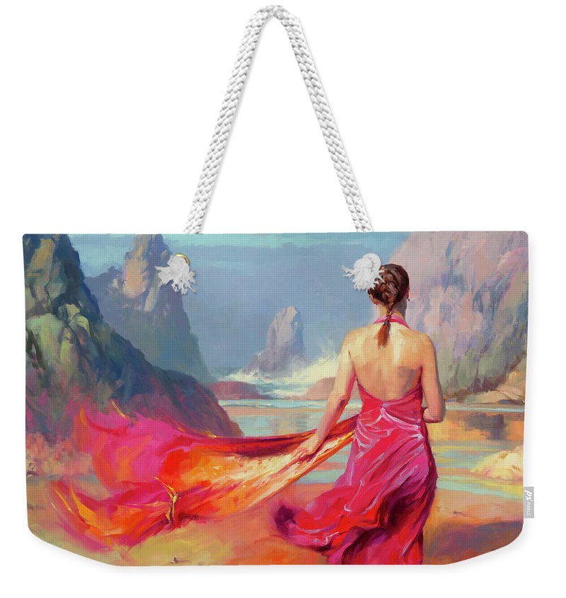 Coast Weekender Tote Bag featuring the painting Cadence by Steve Henderson