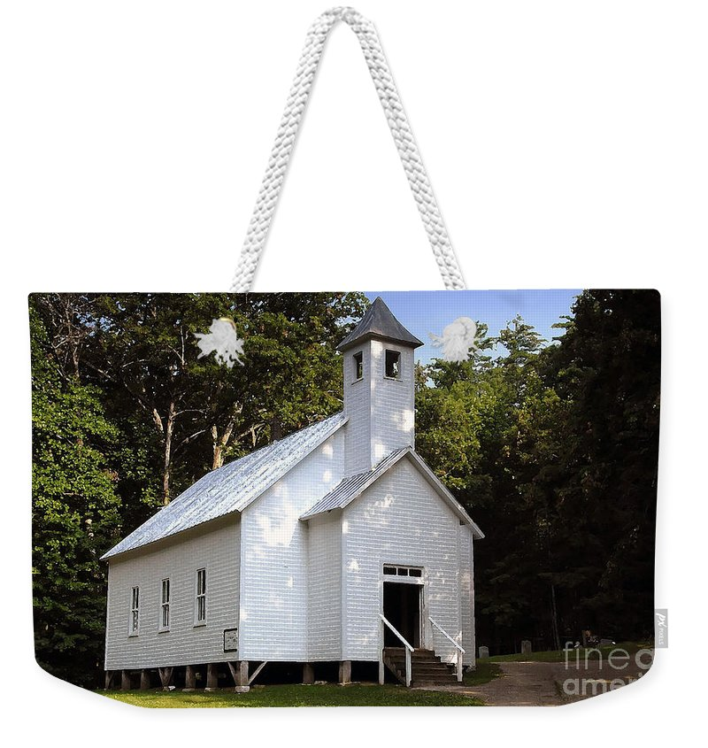 Baptist Weekender Tote Bag featuring the photograph Cades Cove Baptist Church by David Lee Thompson