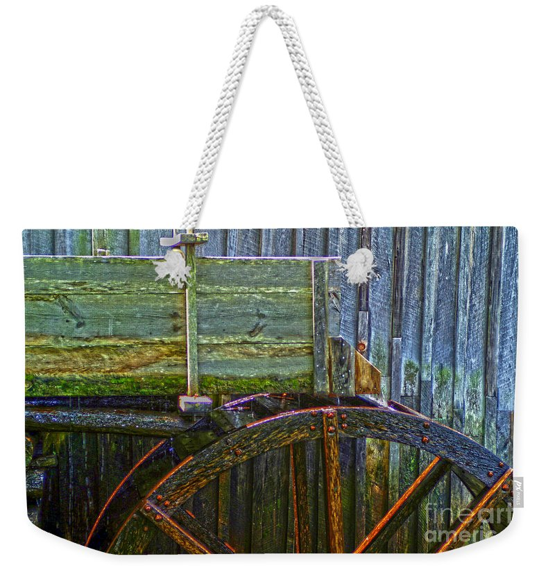 Kooldnala Weekender Tote Bag featuring the photograph Cades Cove Mill No 2 by Alan Look