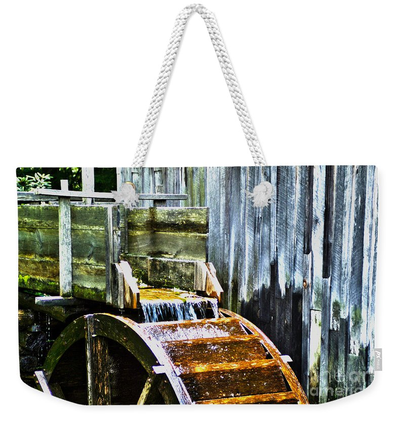 Kooldnala Weekender Tote Bag featuring the photograph Cades Cove Mill No 3 by Alan Look