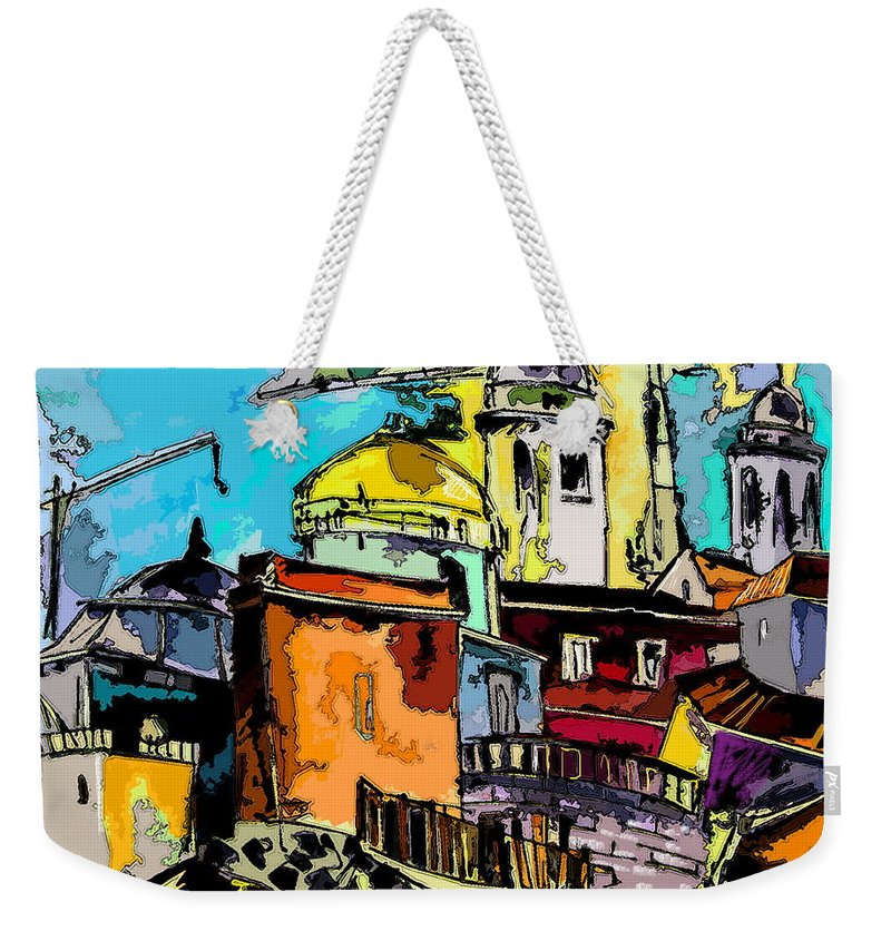 Spain Painting Cadiz Andalusia Weekender Tote Bag featuring the painting Cadiz Spain 02 Bis by Miki De Goodaboom