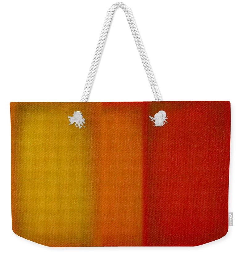 Rothko Weekender Tote Bag featuring the painting Cadmium Lemon by Charles Stuart