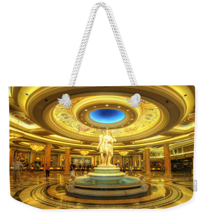 Art Weekender Tote Bag featuring the photograph Caesar's Grand Lobby by Yhun Suarez