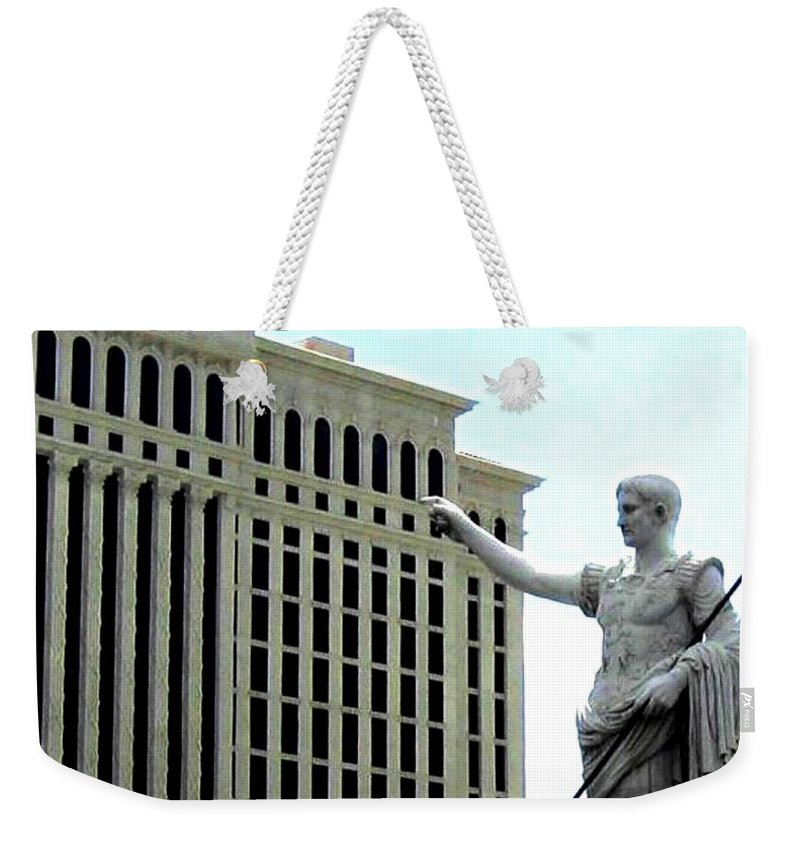 Caesars Palace Weekender Tote Bag featuring the photograph Caesars Palace by Will Borden