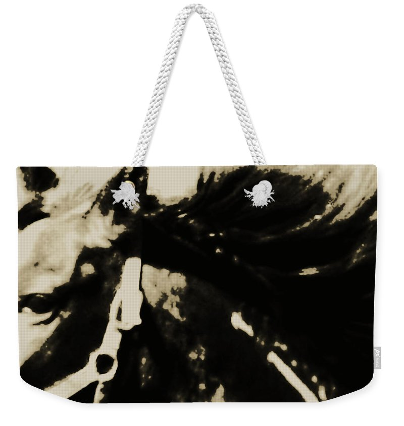 Mustang Weekender Tote Bag featuring the photograph Caeser's Assassin by Hannah Breidenbach