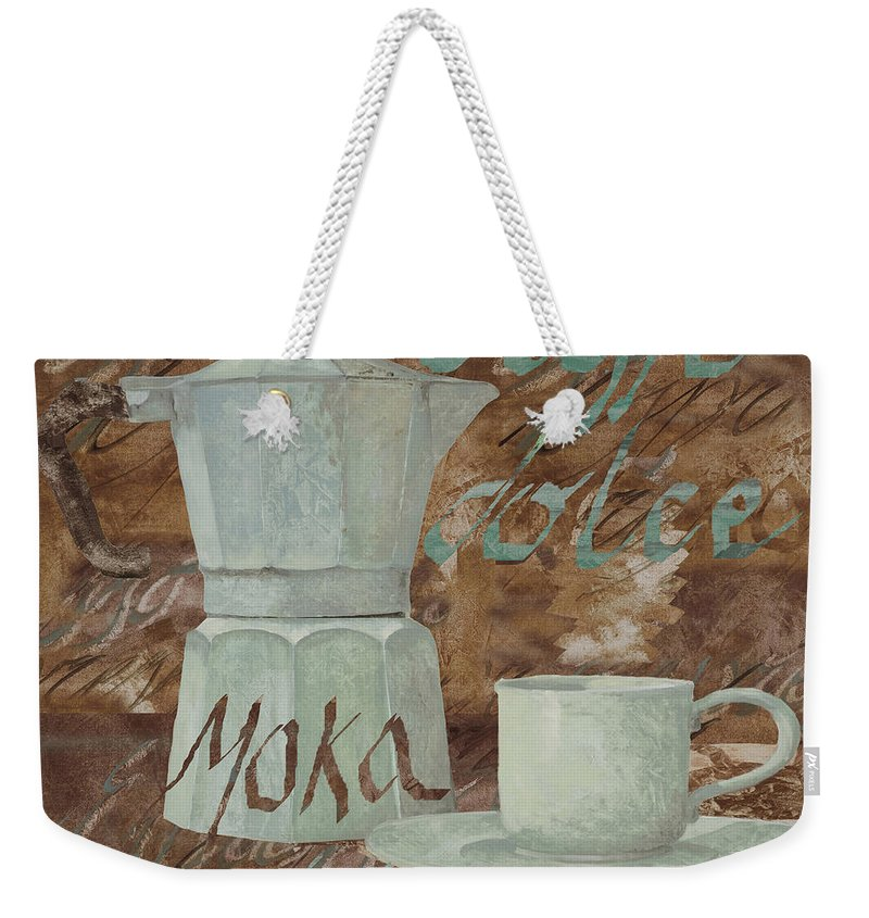 Caffe Weekender Tote Bag featuring the painting Caffe Espresso by Guido Borelli