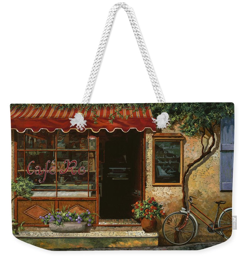 Caffe' Weekender Tote Bag featuring the painting caffe Re by Guido Borelli