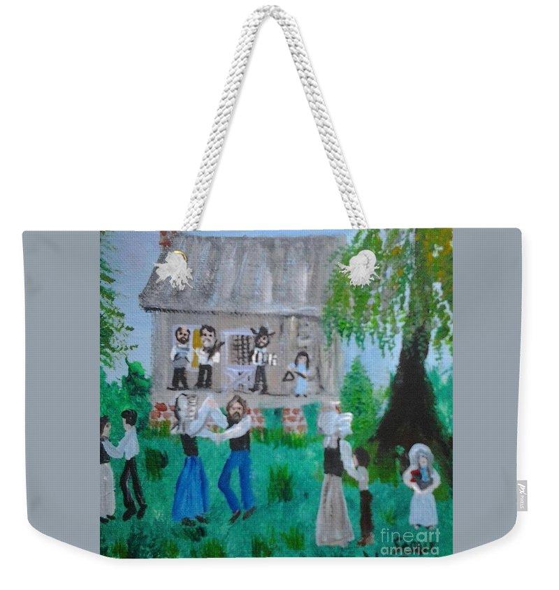 Cajun Weekender Tote Bag featuring the painting Cajun House Dance by Seaux-N-Seau Soileau