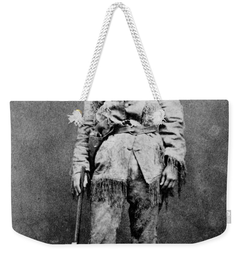 1895 Weekender Tote Bag featuring the photograph Calamity Jane (1852-1903) by Granger