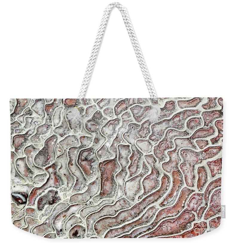 Weekender Tote Bag featuring the photograph Calcium Deposits From Thermal Springs, Pamukkale - Turkey by Dia Karanouh