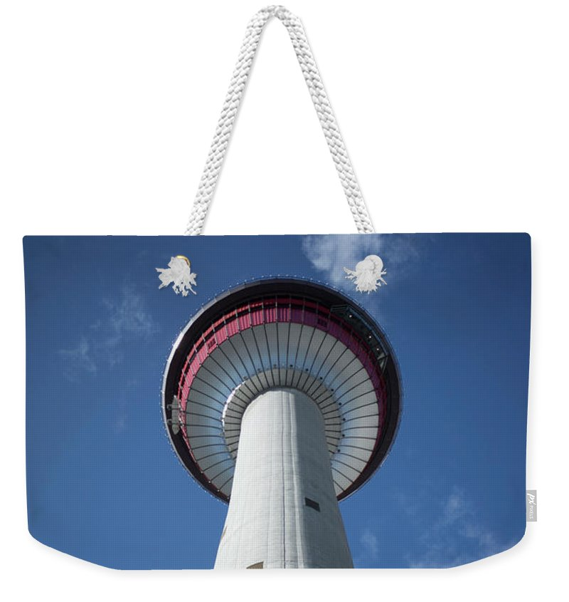 Tower Weekender Tote Bag featuring the photograph Calgary Tower by Christian Horisberger