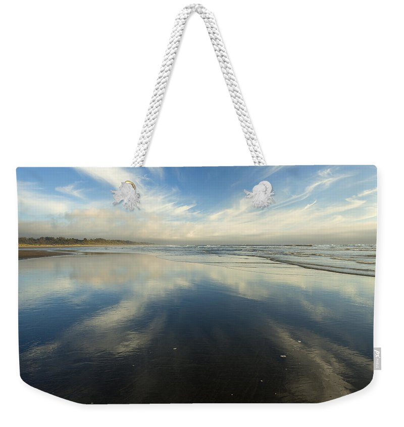 Cirrus Weekender Tote Bag featuring the photograph California Cirrus Explosion by Mike Dawson