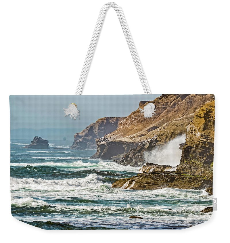 California Weekender Tote Bag featuring the photograph California Coasr by Jonathan Hill