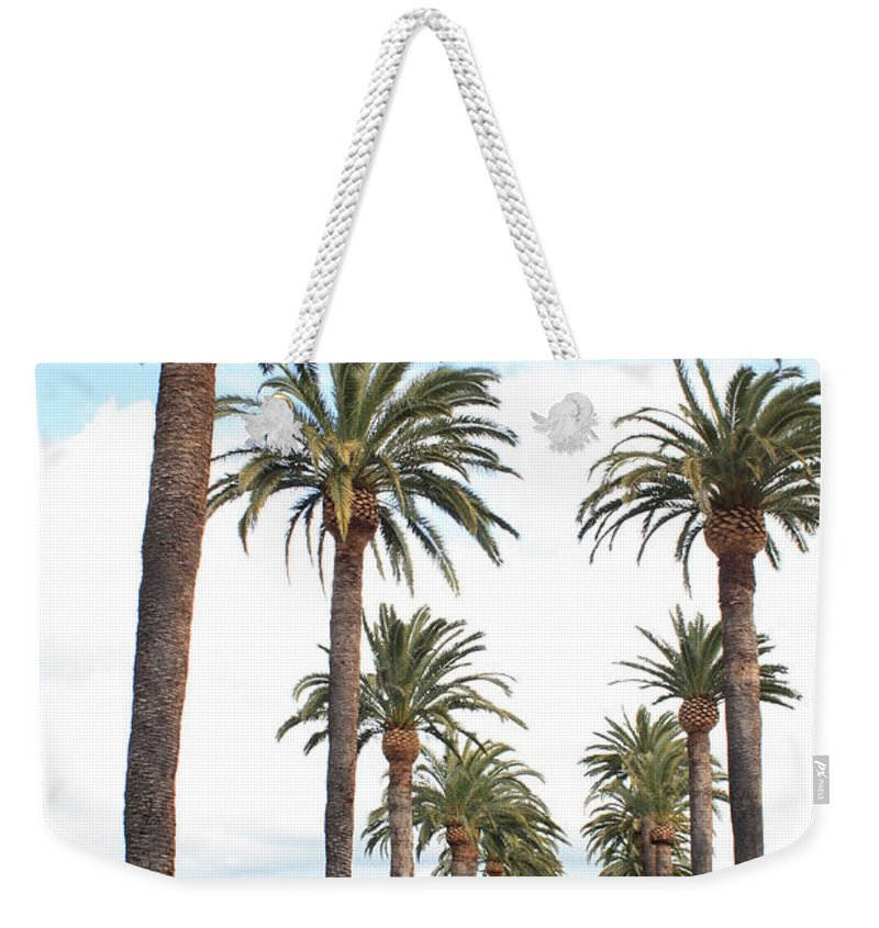 Palm Trees Weekender Tote Bag featuring the photograph California Dreaming by Carol Groenen