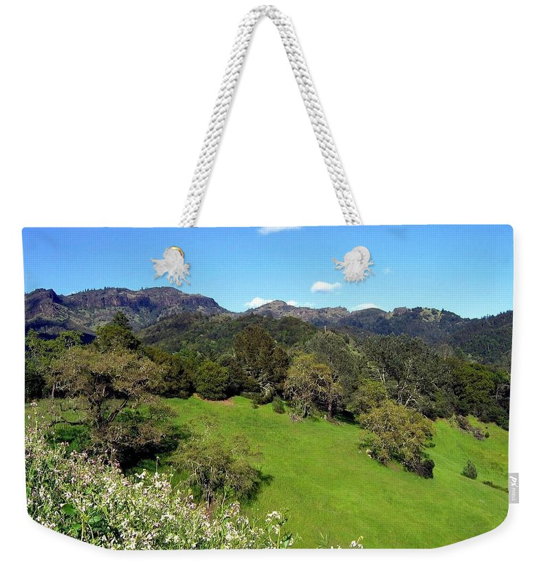 California Weekender Tote Bag featuring the photograph California Highlands by Will Borden