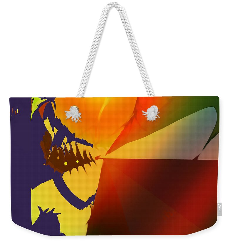 Abstract Weekender Tote Bag featuring the digital art California by Ian MacDonald