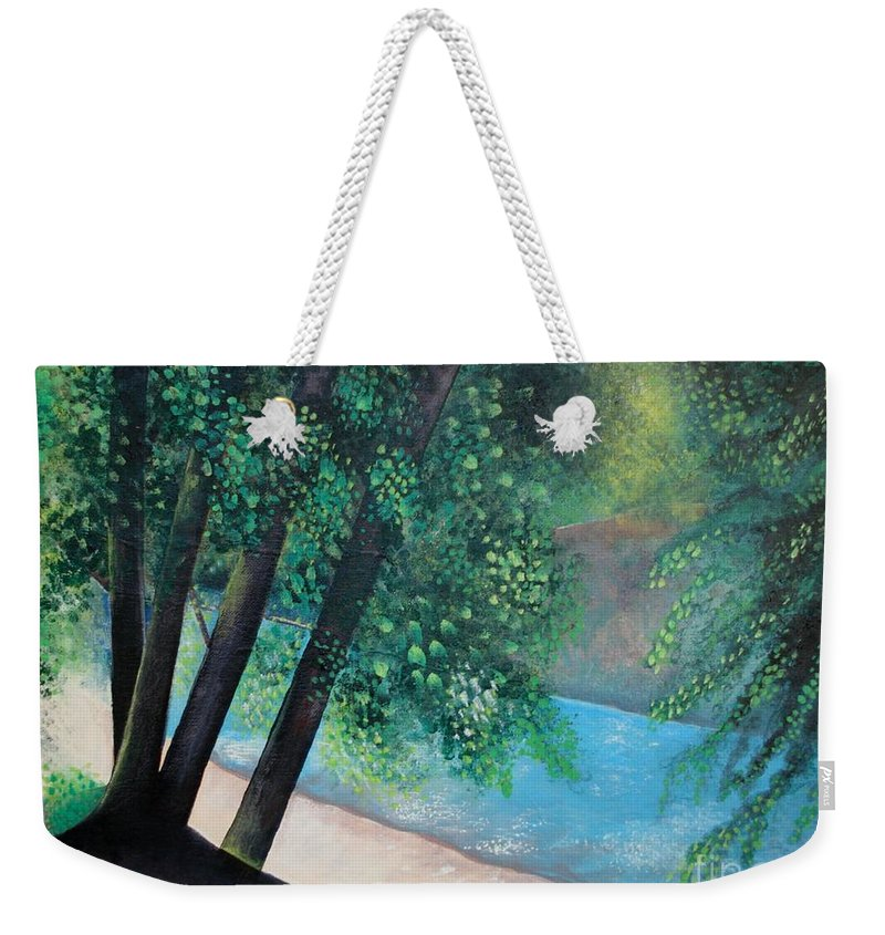 Landscape Weekender Tote Bag featuring the painting California Magic by Helena Tiainen