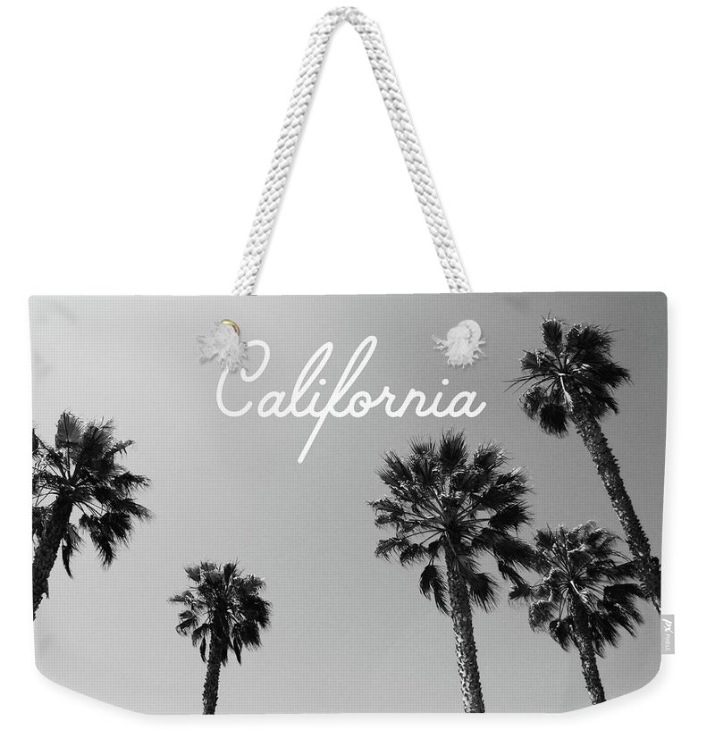 California Weekender Tote Bag featuring the mixed media California Palm Trees by Linda Woods by Linda Woods