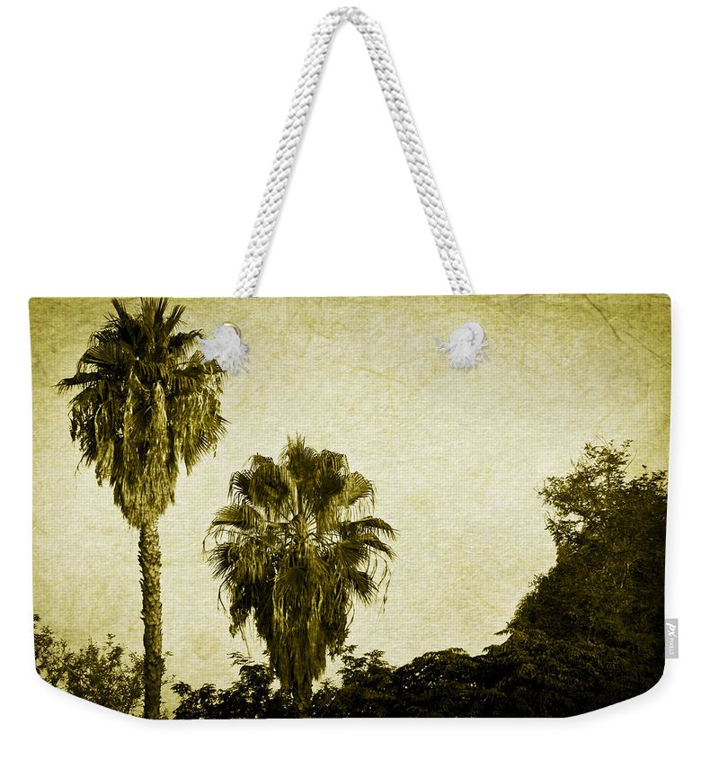 California Weekender Tote Bag featuring the photograph California Palms by Teresa Mucha