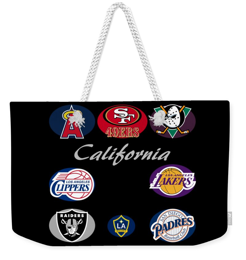 California professional sport teams collage weekender tote bag for california weekender tote bag featuring the digital art california professional sport teams collage by movie poster publicscrutiny Choice Image