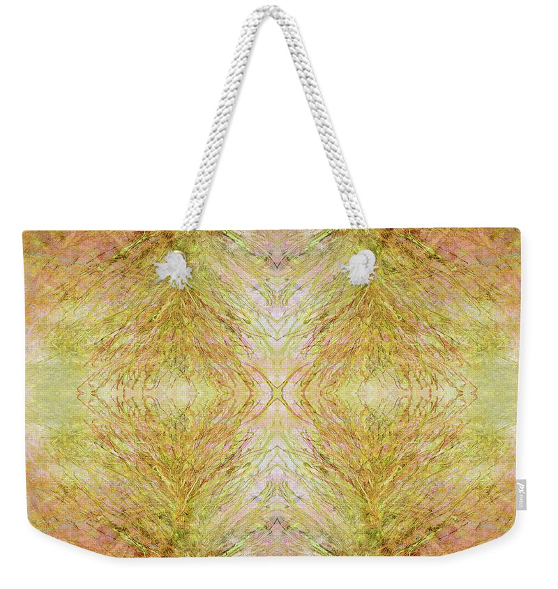 Abstract Weekender Tote Bag featuring the mixed media California Spring Inner Reflection by Kristin Doner