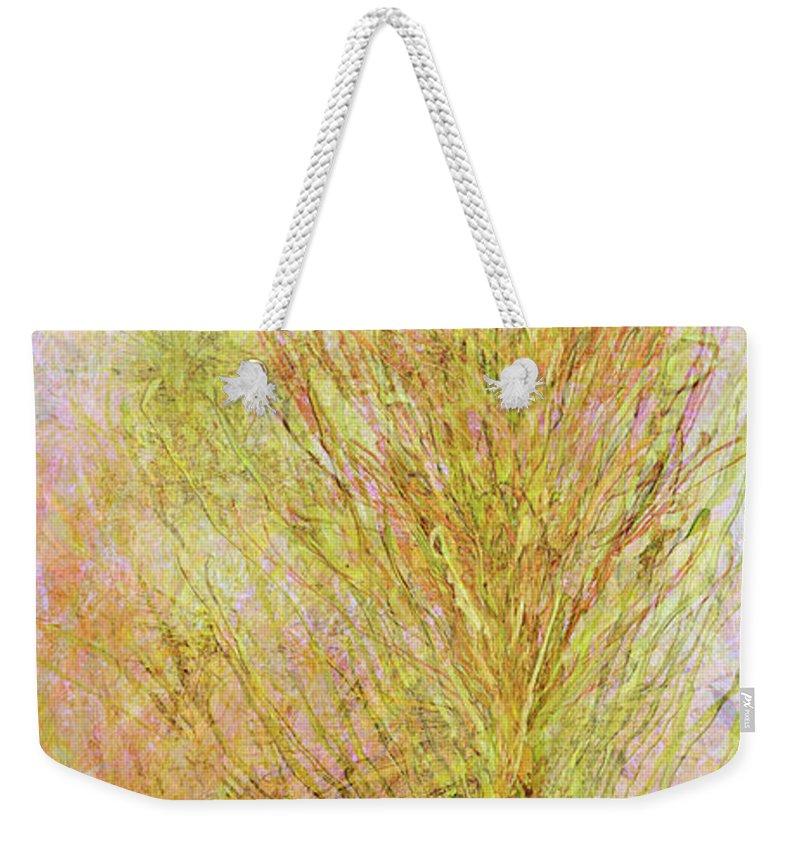 Abstract Weekender Tote Bag featuring the mixed media California Spring by Kristin Doner