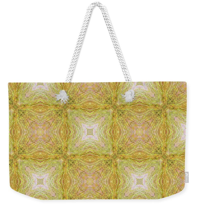 Abstract Weekender Tote Bag featuring the mixed media California Spring Oscillation 18 by Kristin Doner