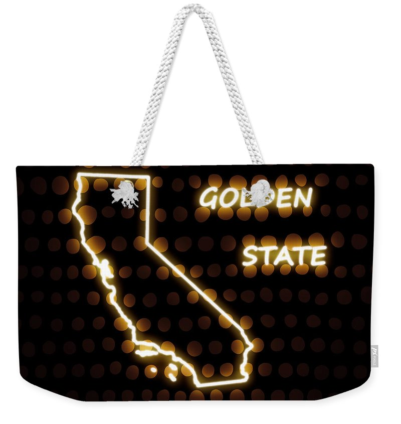 California Weekender Tote Bag featuring the digital art California - The Golden State by Carlos Vieira