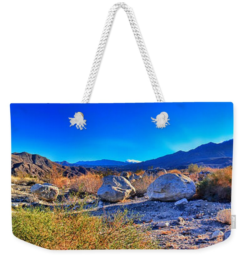California Wilderness Panorama Weekender Tote Bag featuring the photograph California Wilderness Panorama by Kasia Bitner