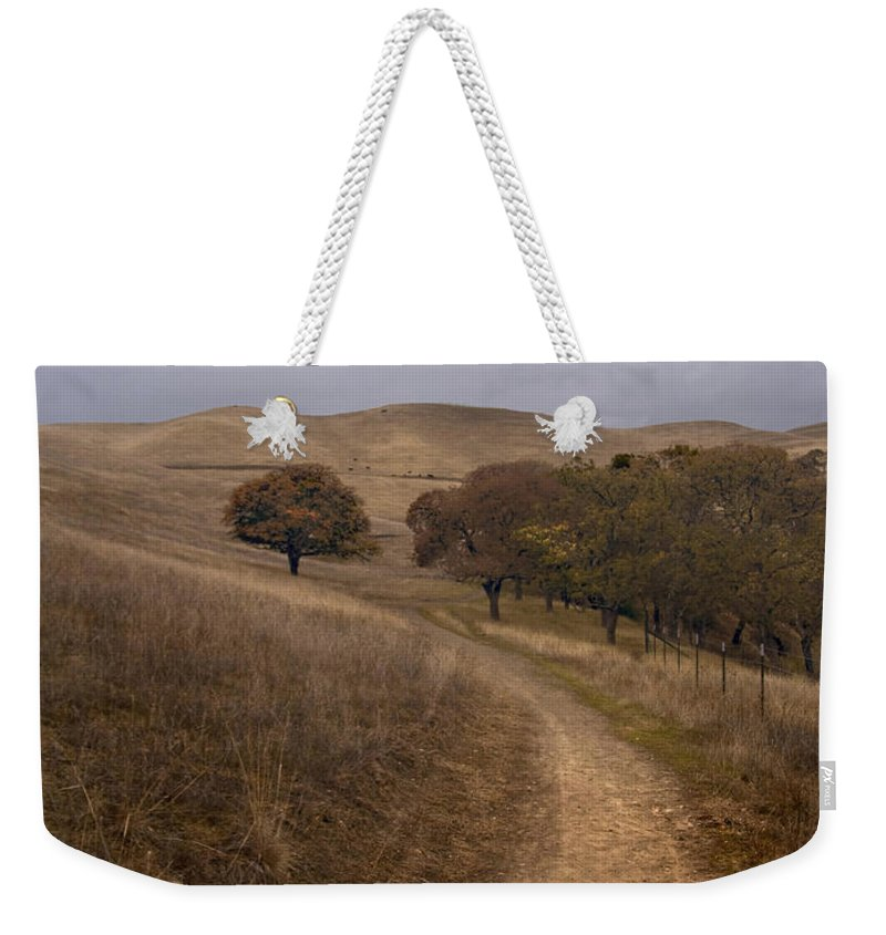 Landscape Weekender Tote Bag featuring the photograph California Winter by Karen W Meyer