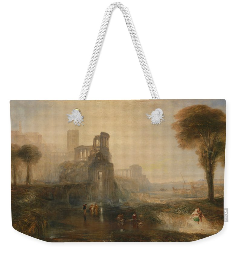 19th Century Art Weekender Tote Bag featuring the painting Caligula's Palace And Bridge by Joseph Mallord William Turner