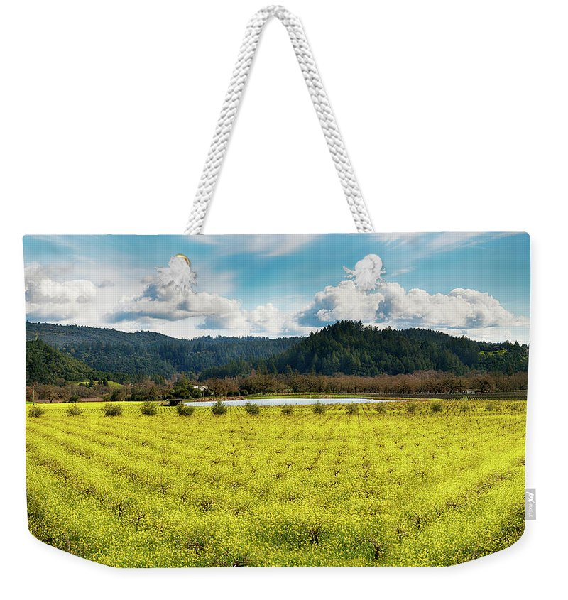 Drink In The Love Weekender Tote Bag featuring the photograph Calistoga Gold by Stan Angel