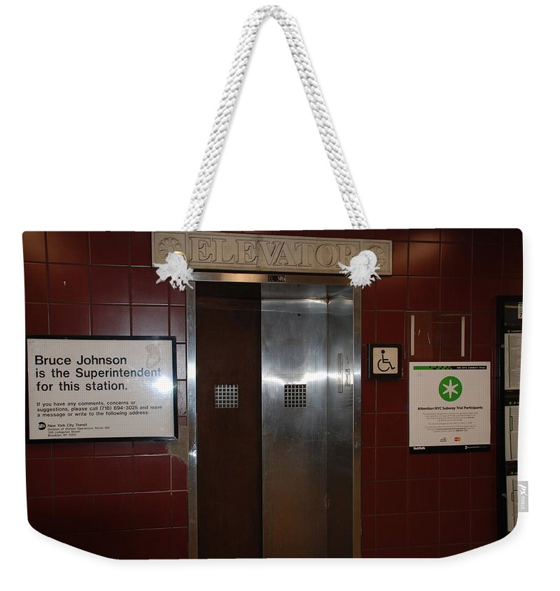People Weekender Tote Bag featuring the photograph Call Bruce Johnson by Rob Hans