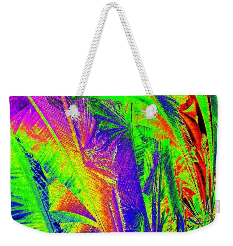 Abstract Weekender Tote Bag featuring the digital art Call Of The Jungle by Will Borden