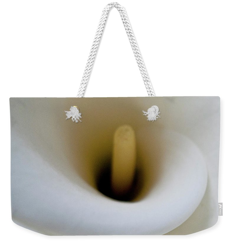 Calla Weekender Tote Bag featuring the photograph Calla Details 11 by Heiko Koehrer-Wagner