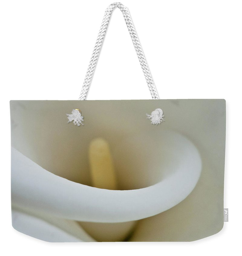 Calla Weekender Tote Bag featuring the photograph Calla Details 12 by Heiko Koehrer-Wagner