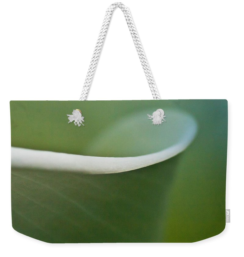 Calla Weekender Tote Bag featuring the photograph Calla Details 2 by Heiko Koehrer-Wagner