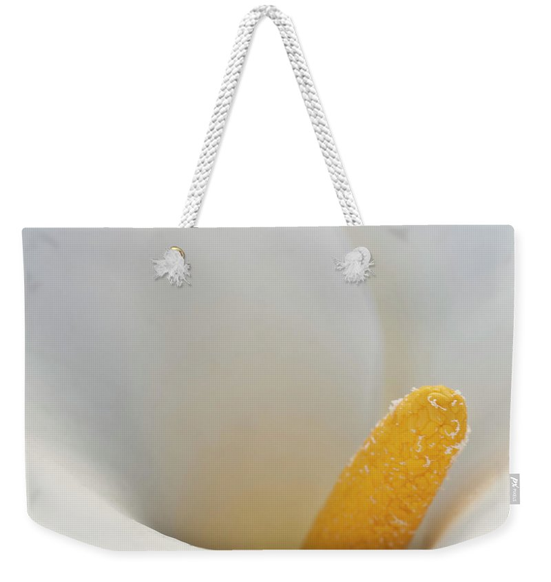 Calla Weekender Tote Bag featuring the photograph Calla Details 5 by Heiko Koehrer-Wagner