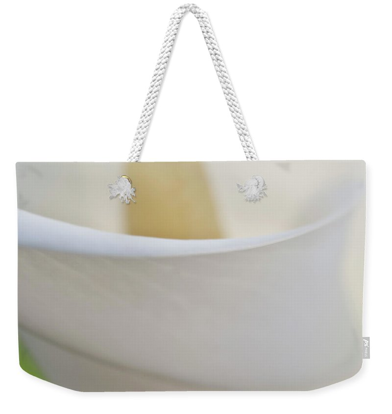 Abstract Weekender Tote Bag featuring the photograph Calla Details 7 by Heiko Koehrer-Wagner