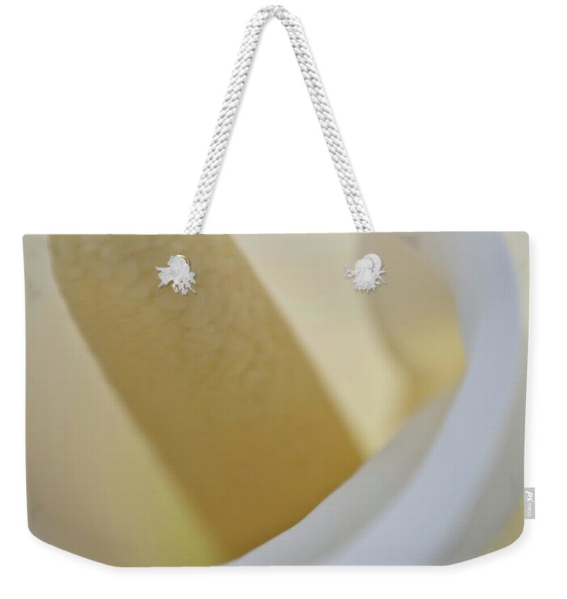 Abstract Weekender Tote Bag featuring the photograph Calla Details 8 by Heiko Koehrer-Wagner