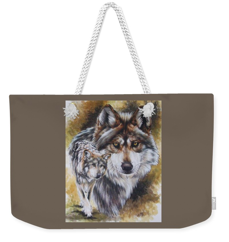 Wildlife Weekender Tote Bag featuring the mixed media Callidity by Barbara Keith
