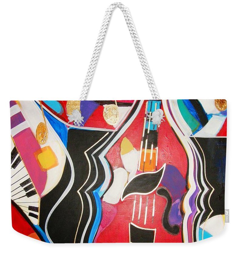 Music Weekender Tote Bag featuring the painting Calling Me Home by Gina Hulse