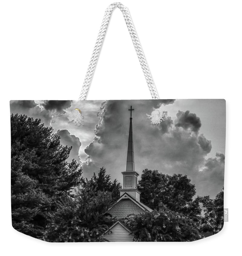 Church Weekender Tote Bag featuring the photograph Calm Before The Storm by Guy Shultz