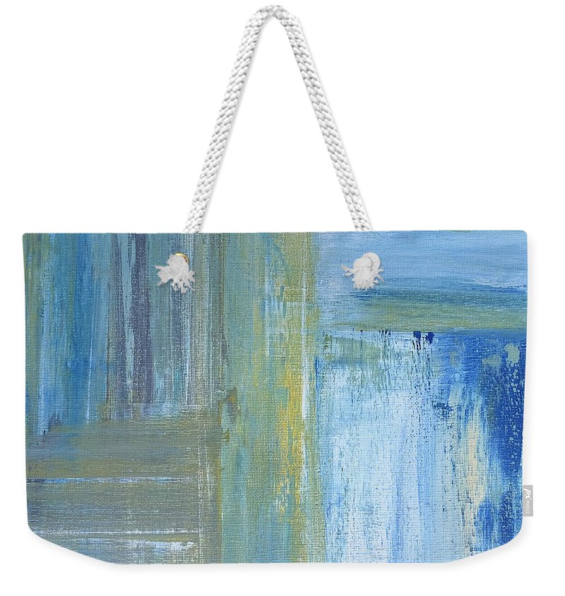 Abstract Weekender Tote Bag featuring the painting Calm by Dick Bourgault