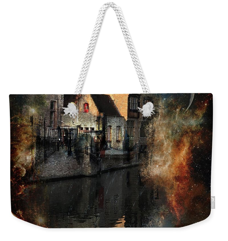 Sky Weekender Tote Bag featuring the digital art Calm by Nicky Jameson