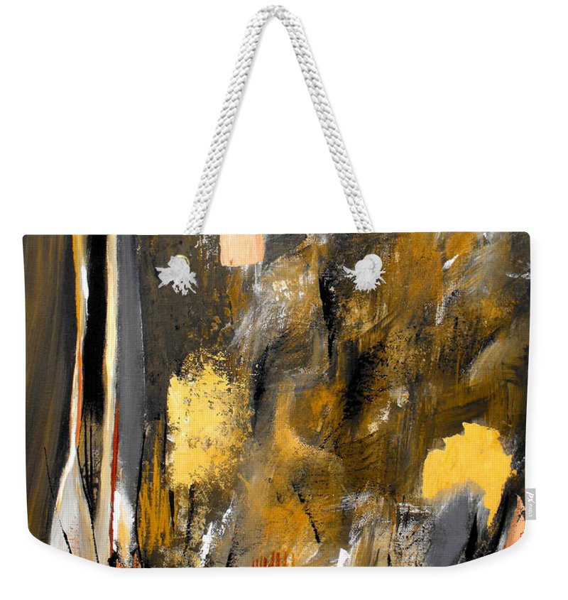 ruth Palmer Weekender Tote Bag featuring the painting Calm Out Of Chaos 2010 by Ruth Palmer