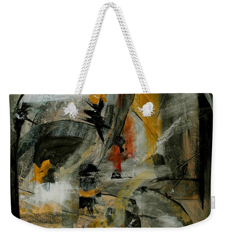 Abstract Weekender Tote Bag featuring the painting Calm Out Of Chaos by Ruth Palmer